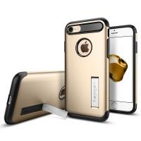 Чехол пластиковый Spigen Slim Armor Champagne Gold для iPhone 7/8