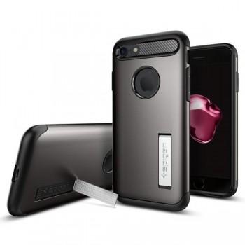 Чехол пластиковый Spigen Slim Armor Gun Metal для iPhone 7/8