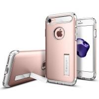 Чехол пластиковый Spigen Slim Armor Rose Gold для iPhone 7/8