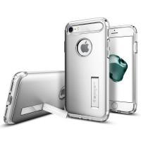 Чехол пластиковый Spigen Slim Armor Satin Silver для iPhone 7/8