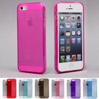 Чехол cиликоновый прозрачный Hot Pink для iPhone 7/8
