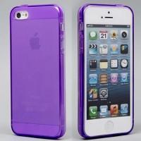 Чехол cиликоновый прозрачный Violet для iPhone 7/8