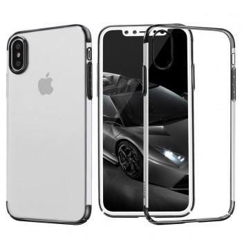 Чехол пластиковый Baseus Glitter Case Black для iPhone X/XS