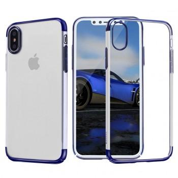 Чехол пластиковый Baseus Glitter Case Blue для iPhone X/XS