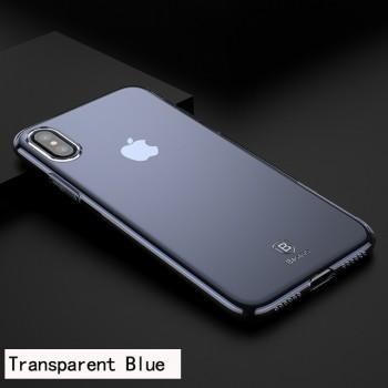 Чехол прозрачный Baseus Simple Series Case Transparent Blue для iPhone X/XS