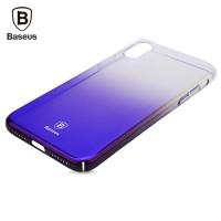 Чехол пластиковый Baseus Glaze Case Trasparent Dark Blue для iPhone X/XS
