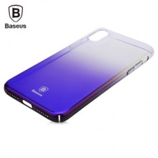Чехол Baseus Glaze Case для iPhone X Trasparent Dark Blue