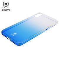 Чехол пластиковый Baseus Glaze Case Trasparent Blue для iPhone X/XS