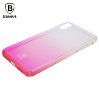 Чехол пластиковый Baseus Glaze Case Trasparent Pink для iPhone X/XS