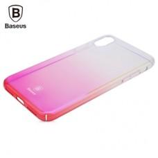 Чехол Baseus Glaze Case для iPhone X Trasparent Pink