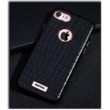Чехол REMAX Maso Series Crocodile Leather Coated Hard Case Black для iPhone 7/8
