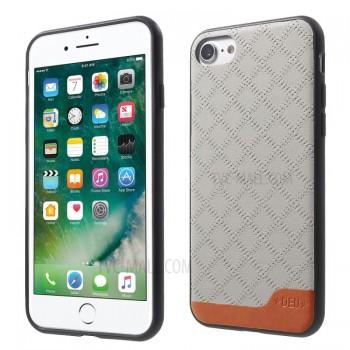 Чехол пластиковый DEU Rhombus Pattern Leather Skin Hybrid Grey для iPhone 7/8