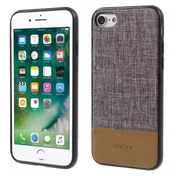 Чехол тканевый DEU TPU PC Hybrid Brown для iPhone 7/8