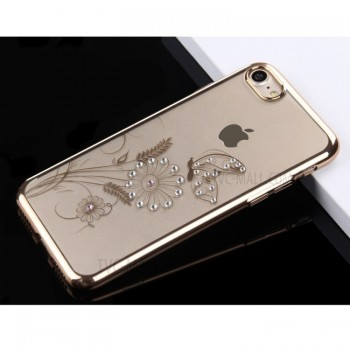 Чехол пластиковый OUcase Flower Gold для Apple iPhone 7/8