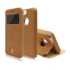Чехол-книжка кожаная Baseus Simple Brown для Apple iPhone 7/8 plus