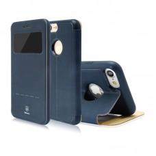 Чехол-книжка кожаная Baseus Simple Navy для Apple iPhone 7/8 plus