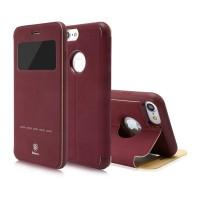 Чехол-книжка кожаная Baseus Simple Red для Apple iPhone 7/8