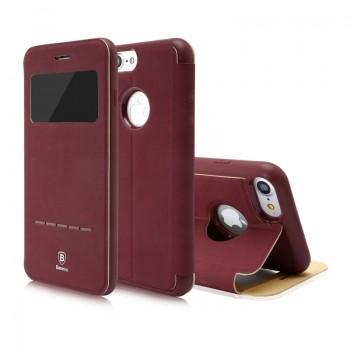 Чехол-книжка кожаная Baseus Simple Dark Rose для Apple iPhone 7/8 plus