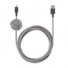 Кабель Native Union Night Lightning USB Cable 3m Black White для Apple IPhone/IPad/IPod