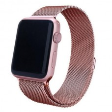 Ремешок стальной Milanese Loop Rose Gold 38/42mm для Apple Watch
