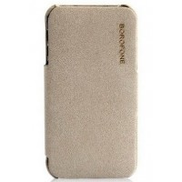 Чехол Borofone Pilot Leather Case Grey для iPhone 4/4S