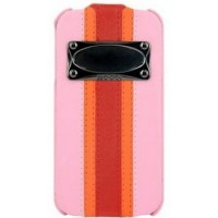Чехол HOCO Marques Fashion Leather Case Pink для iPhone 4/4S