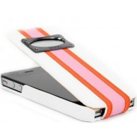 Чехол HOCO Marques Fashion Leather Case White для iPhone 4/4S