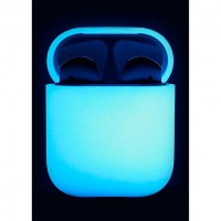Чехол силиконовый Elago Silicone Case LED Blue для Apple Airpods White