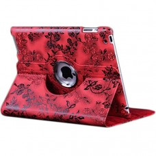 Чехол 360° Rotating Stand Case Red Flower для iPad 4/ iPad 3/ iPad 2