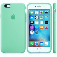 Чехол силиконовый Apple Silicone Case Menthol для Apple iPhone 6/6s