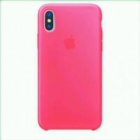 Чехол Apple Silicone Case for iPhone X - Raspberry Electrician - Яркий Малиновый