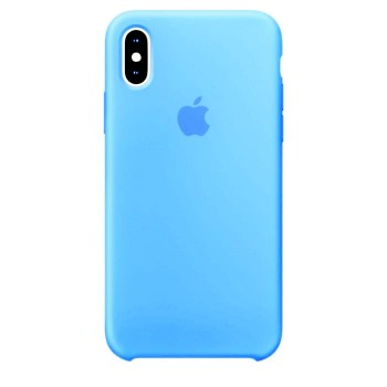 Чехол силиконовый Apple Silicone Case Sea Blue для iPhone X/XS