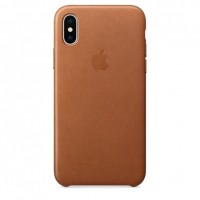 Чехол Apple Leather Case Gold для iPhone X/XS