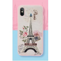 Чехол Rock Great City Series Embroidery Protection Case Paris Pink для iPhone X
