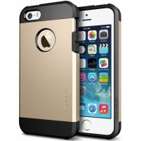 Чехол пластиковый Spigen Tough Armor Smooth Champagne Gold для iPhone 5/5S
