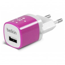 Зарядное устройство Belkin Home Charger 1 USB Port (5Watt/1 Amp) Pink