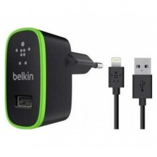 Сетевое зарядное устройство Belkin Home Charger 1 USB Port (10Watt/2.1 Amp) Black and Lightning Cable