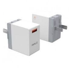 Зарядное устройство iWalk Leopard Quick Charge 3.0 USB travel adapter White
