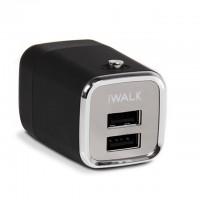 Сетевое зарядное устройство iWalk DOLFIN 2USB 2.1 A Black для iPhone/iPad/смартфона/планшета