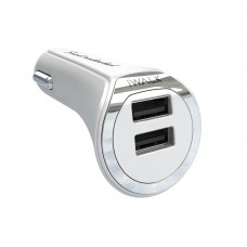 Автомобильное зарядное устройство IWALK Dolphin Duo 3.4A White для смартфона/планшета