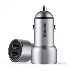 Автомобильное зарядное устройство Baseus Small Giant 2USB/3.4A Silver для iPhone/iPod/iPad mini/iPad/MacBook/смартфона