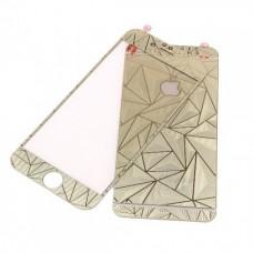 Стекло защитное Tempered Diamond 3D Effect Gold для iPhone 6/6s