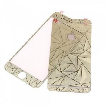 Защитное стекло Tempered Diamond 3D Effect Gold для iPhone 5/5s/5se