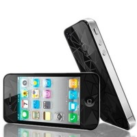 Защитное стекло Tempered Diamond 3D Effect Black для iPhone 5/5s/5se