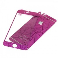 Стекло защитное Tempered Diamond 3D Effect Purple для iPhone 6/6s