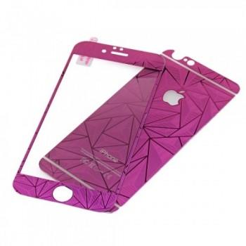 Стекло зеркальное цветное защитное Purple для iPhone 5/5s/5se