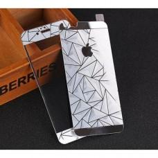 Стекло защитное Tempered Diamond 3D Effect Silver для iPhone 6/6s