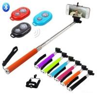Монопод селфи KjStar  Z07-1 с Bluetooth пультом Selfie Stick для iPhone/смартфона/экшн камеры