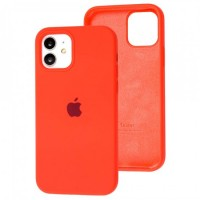 Чехол для iPhone 12 / 12 Pro Silicone Full арбузный / watermelon red