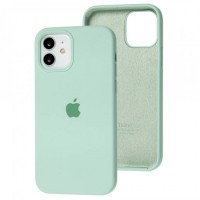 Чехол для iPhone 12 / 12 Pro Silicone Full бирюзовый / beryl